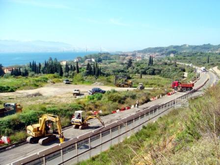 Συνεχίζονται οι εργασίες αποκατάστασης στην Παράκαμψη Ναυπάκτου