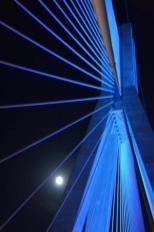 """Πανσέληνος στη Γέφυρα Ρίου - Αντιρρίου """"Χαρίλαος Τρικούπης""""_Πανσέληνος στη Γέφυρα Ρίου - Αντιρρίου """"Χαρίλαος Τρικούπης""""_1"""