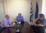 Συνάντηση Απ. Κατσιφάρα με τον ειδικό γραμματέα του Σώματος Επιθεωρητών Εργασίας