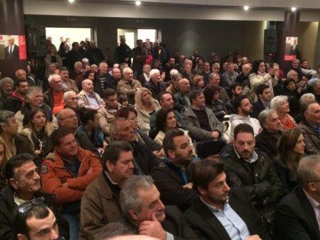 Προεκλογική εκδήλωση του Κινήματος Δημοκρατών Σοσιαλιστών στο Παπαστράτειο Μέγαρο της Γ.Ε.Α. στο Αγρίνιο